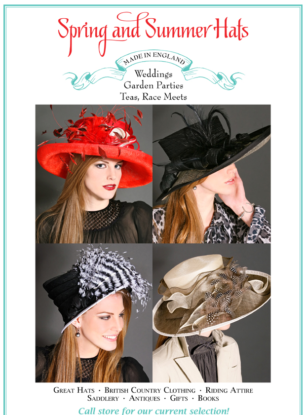 Ladies Garden Party, Hunt Race Meet Hats, Tea Party Hats